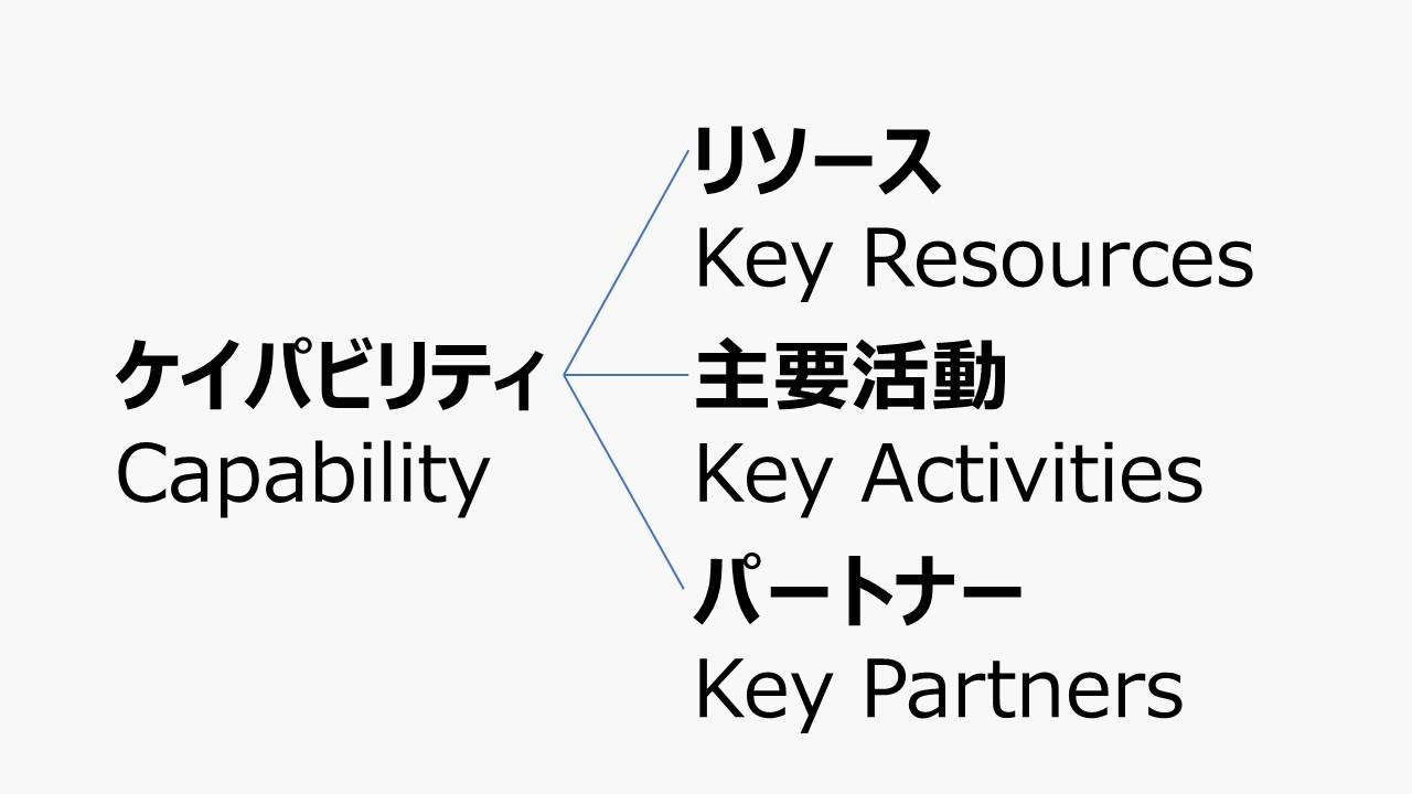 ケイパビリティ - ビジネスモデル体系
