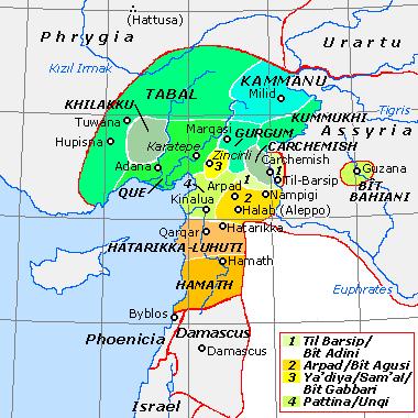 サルゴン2世の最初期の戦争はレヴァントで行われた