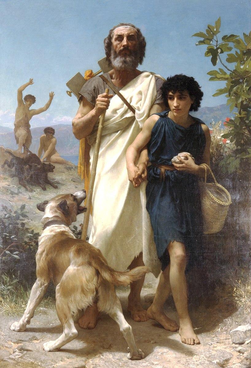 ウィリアム・アドルフ・ブグロー『ホメーロスと案内人』(1874)